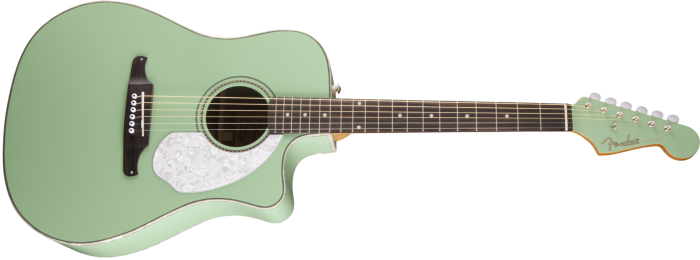 Fender Sonoran Sce Acoustic Electric Guitar Surf Green
