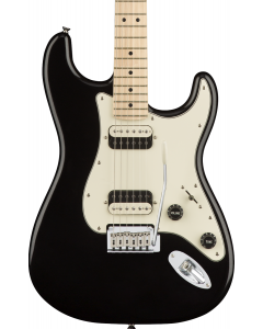 Squier Contemporary Stratocaster HH Electric Guitar. Maple FB, Black Metallic