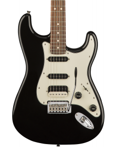Squier Contemporary Stratocaster HSS Electric Guitar. Laurel FB, Black Metallic