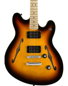 Squier Affinity Series Starcaster Electric Guitar. Maple FB, 3-Color Sunburst