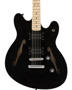 Squier Affinity Series Starcaster Electric Guitar. Maple FB, Black