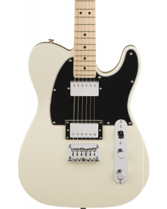 Squier Contemporary Telecaster HH Electric Guitar. Maple FB, Pearl White