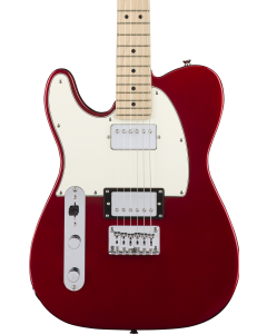 Squier Contemporary Telecaster HH Left-Handed Electric Guitar. Maple FB, Dark Metallic Red