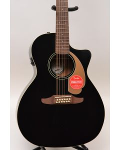Fender Villager 12-String V3 Acoustic-Electric Guitar Jetty Black TGF11