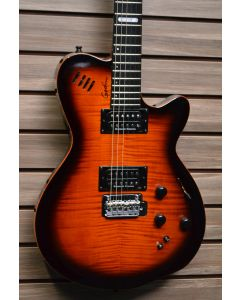 Godin LGXT AA Flame Top Electric Guitar Cognac Burst w/Bag SN 5154