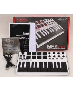 Akai Professional MPK Mini Limited Edition 25-Key Keyboard Controller - White with Reverse Keys SN3868
