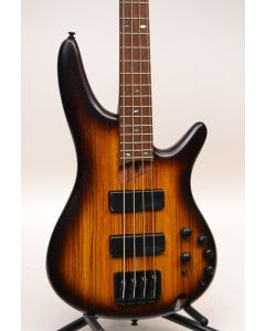 Ibanez SR500EZWBBF Zebra Wood Top Electric Bass Flat Brown Burst TGF11