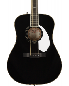Fender Limited Edition PM-1 Deluxe Dreadnought Acoustic Guitar with Case. Ebony FB, Black