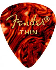 Fender 351 Shape Classic Thin Celluloid Picks, 12 Pack, Shell