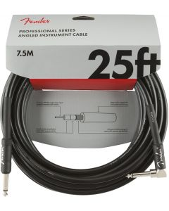 Fender Professional Series Instrument Cable, Straight/angle, 25' - Black