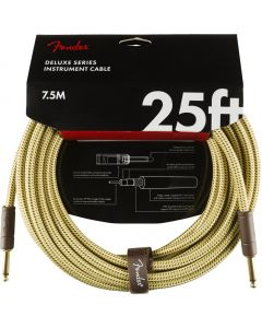 Fender Deluxe Series Instrument Cable, Straight, 25' - Tweed