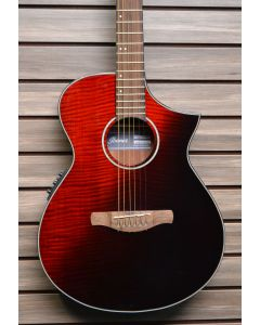 Ibanez AEWC32FMRSF Thinline Acoustic-Electric Guitar  Red Sunset Fade TGF11
