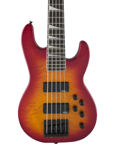 Jackson JS Series Concert Bass JS3VQ. Amaranth FB, Cherry Burst
