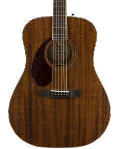 Fender PM-1 Dreadnought Left Handed Acoustic Guitar. Ovangkol FB, All-Mahogany w/case