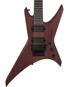 Jackson Pro Series Signature Dave Davidson Warrior WR7 MAH Electric Guitar. Ebony FB, Walnut Stain