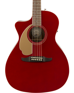 Fender Newporter Player Left Handed Acoustic Guitar. Walnut FB, Candy Apple Red