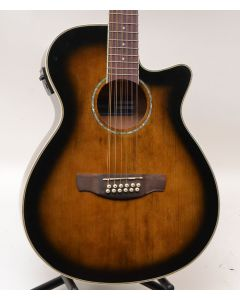 Ibanez AEG1812II-DVS 12-String Acoustic-Electric Guitar Dark Violin Sunburst TGF11