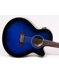 Ibanez AEL1512E TBS 12-string Acoustic-Electric Guitar Trans Blue Sunburst TGF11