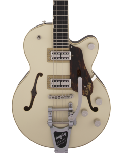 Gretsch G6659T Players Edition Broadkaster Jr. Center Block Single-Cut Electric Guitar with String-Thru Bigsby. USA Full'Tron Pickups, Ebony FB, Two-Tone Lotus Ivory/Walnut Stain