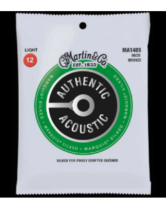 Martin Ma140s Marquis 80/20 Bronze Light Authentic Acoustic Silked Guitar String