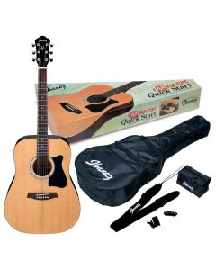 Ibanez JamPack IJV50 Quickstart Acoustic Guitar Pack Natural