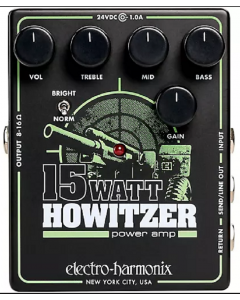 Electro-Harmonix 15Watt Howitzer Guitar Preamp and Power Amp Effects Pedal Black