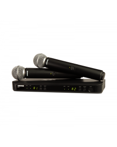 Shure BLX288/SM58-H11 Wireless Dual Vocal System with 2 SM58's. H11 Band
