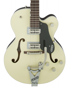 Gretsch G6118T-LIV Players Edition Anniversary Electric Guitar with String-Thru Bigsby. Filter'Tron Pickups, 2-Tone Lotus Ivory and Charcoal Metallic
