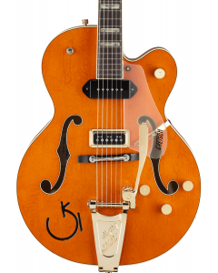 Gretsch G6120 Eddie Cochran Signature Hollow Body Electric Guitar with Bigsby. Rosewood FB, Western Maple Stain