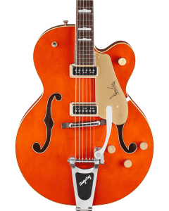 Gretsch G6120DE Duane Eddy Signature Hollow Body Electric Guitar with Bigsby. Rosewood FB, Desert Sunrise, Lacquer