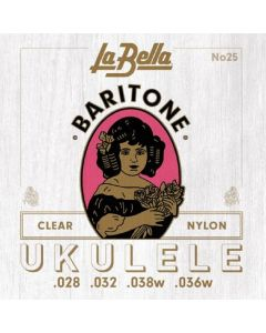 La Bella No. 25 Nylon Ukulele Strings - Baritone Clear .028, .032, .038W, .036W