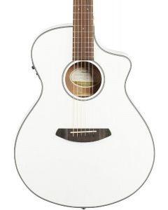 Breedlove DSCN22CESSMA Discovery Concert CE Satin White Acoustic Electric Guitar. Sitka-Mahogany TGF11