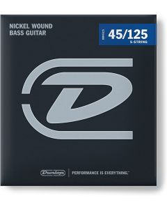 Dunlop Nickel Plated Steel Bass Strings Medium 5-String 45-125