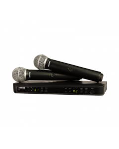 Shure BLX288/SM58-H11 Wireless Dual Vocal System with 2 PG58's. H11 Band