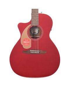 Fender Newporter Player California Series Left-Handed Acoustic-Electric Guitar Candy Apple Red TGF33