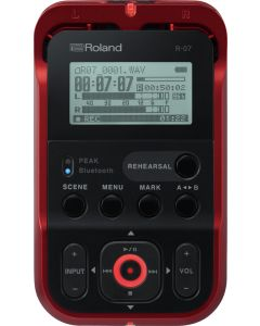 Roland R-07-RD High-Resolution Audio Recorder Red
