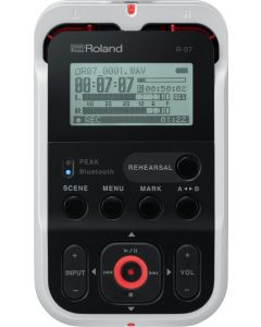 Roland R-07-WH High-Resolution Audio Recorder White