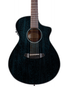 Breedlove RAINFOREST S CONCERT MIDNIGHT BLUE CE African Mahogany - African Mahogany  Acoustic Electric Guitar