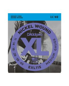 D'Addario EXL115 Electric Guitar Strings Blues/Jazz Rock 11-49