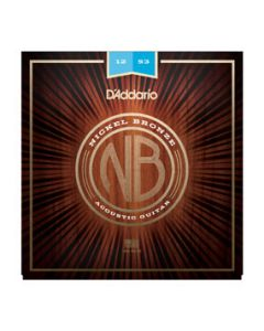 D'Addario NB1253 Nickel Bronze Acoustic Guitar Strings, Light