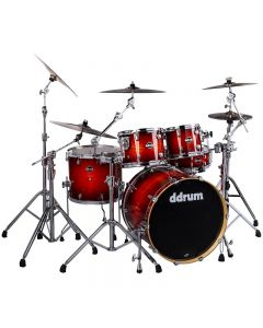 ddrum DM ASH 522 RB Dominion 5pc Shell Pack. Red Burst