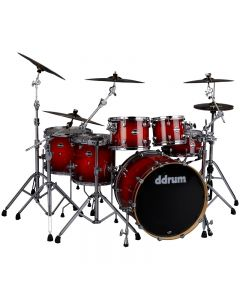 ddrum DM ASH 622 RB Dominion 6pc Shell Pack. Red Burst