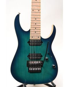Ibanez RG752AHMNGB Prestige 7-String Electric Guitar Nebula Green Burst W/ Case TGF11