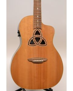 Luna Tri Par Trinity Acoustic Electric Guitar SN 4703