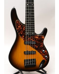 Aria Pro II Avante Steve Bailey 5 String Bass 90's Sunburst Excellent! W/ BAG SN 1280