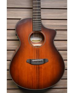 Breedlove Discovery Concert Ce Sitka Spruce-Mahogany Satin Bourbon Acoustic-Electric Guitar Bourbon Burst TGF11