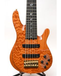 Yamaha TRBJP2 John Patitucci 6-string Signature Bass Amber Figured Quilt W/ GIG BAG TGF11