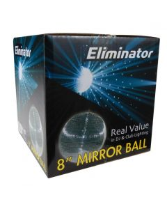 "Eliminator EM8 8"" Mirror Ball"