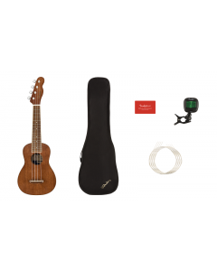 Fender Seaside Soprano Ukulele Pack. Walnut FB, Natural