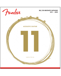 Fender 70CL 80/20 Bronze Acoustic Strings - Custom Light